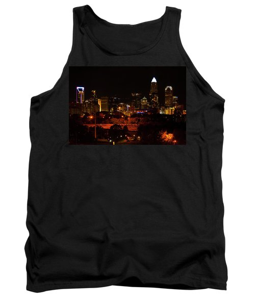 Tank Top featuring the digital art The City Of Charlotte Nc At Night by Chris Flees