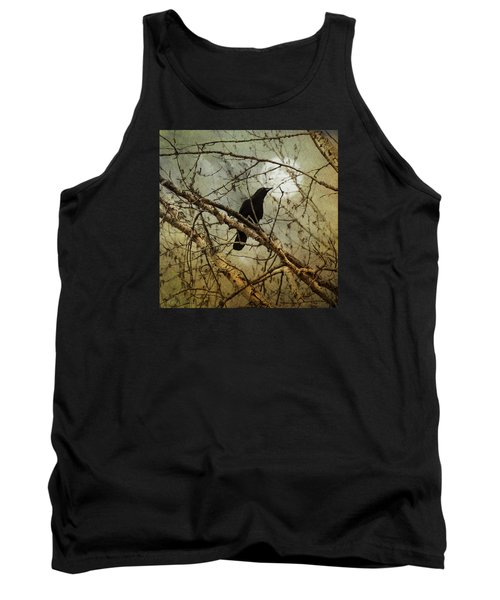 The Crow And The Moon Tank Top by Theresa Tahara
