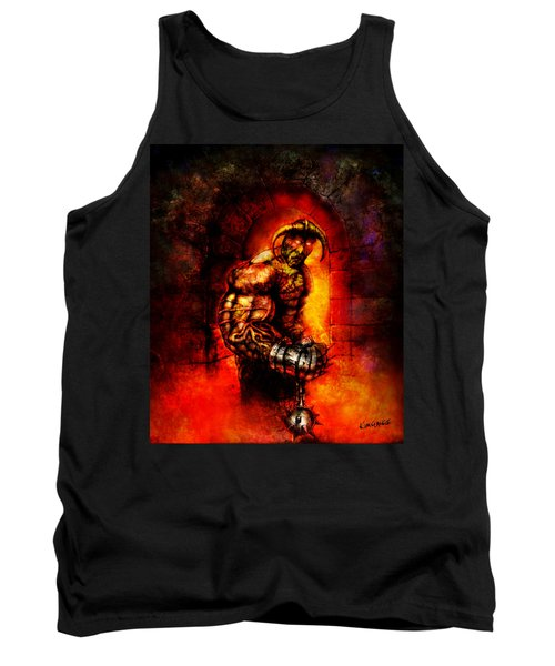 Tank Top featuring the digital art The Devil's Henchman by Kim Gauge