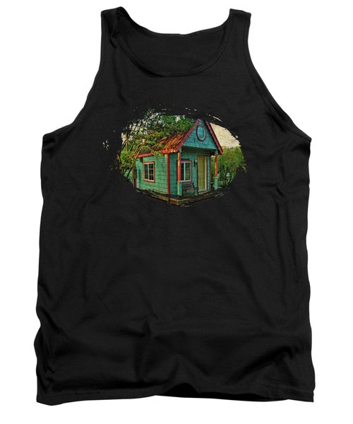 Tank Top featuring the photograph The Enchanted Garden Shed by Thom Zehrfeld