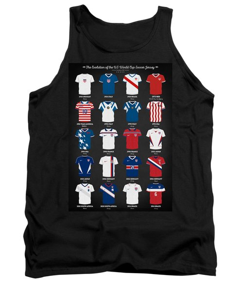 The Evolution Of The Us World Cup Soccer Jersey Tank Top by Taylan Apukovska