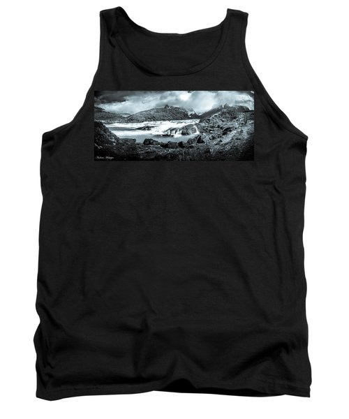 Tank Top featuring the photograph The Falls In Black And White by Andrew Matwijec