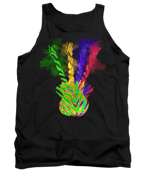 Tank Top featuring the digital art The Four Guitars by Guitar Wacky