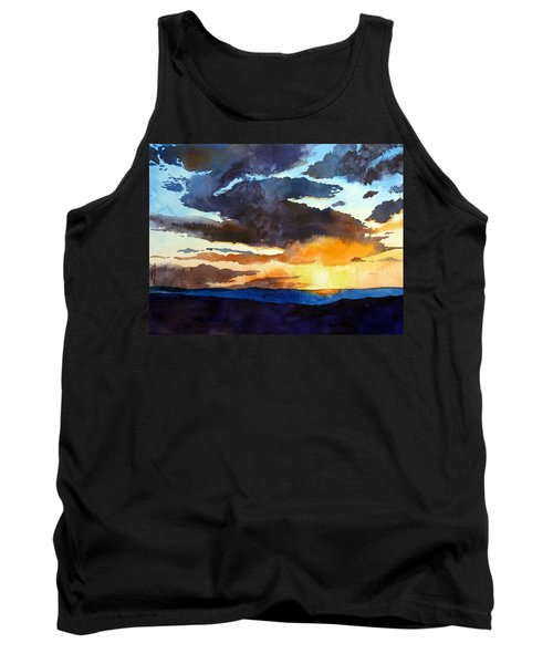 Tank Top featuring the painting The Glory Of The Sunset by Christopher Shellhammer