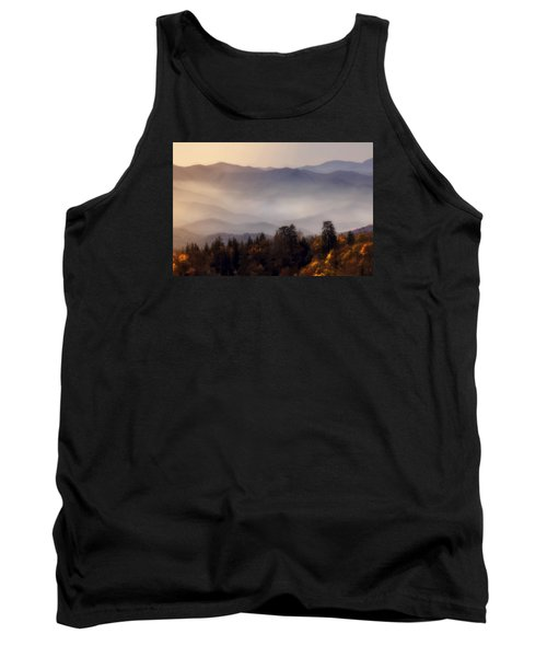 Tank Top featuring the photograph The Great Smoky Mountains by Ellen Heaverlo