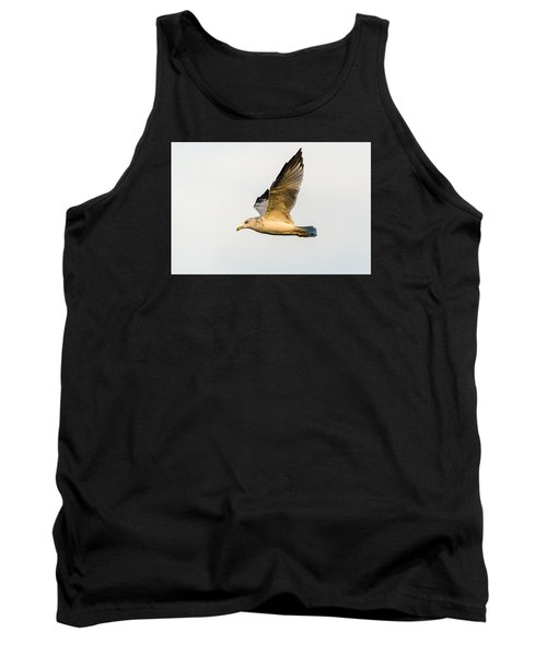 Tank Top featuring the photograph The Gull In Flight by Yeates Photography