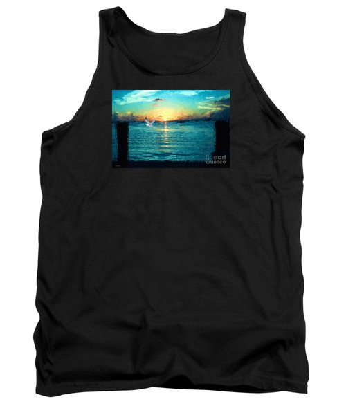Tank Top featuring the painting The Gull by Judy Kay