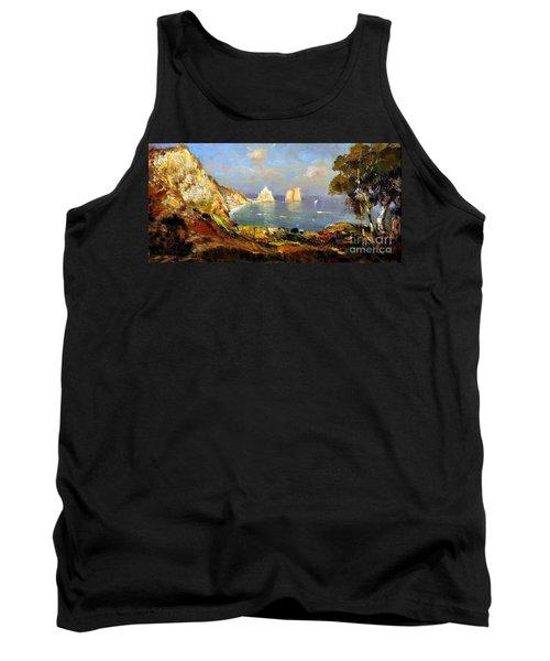 The Island Of Capri And The Faraglioni Tank Top