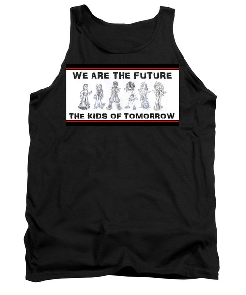 Tank Top featuring the drawing The Kids Of Tomorrow 1 by Shawn Dall
