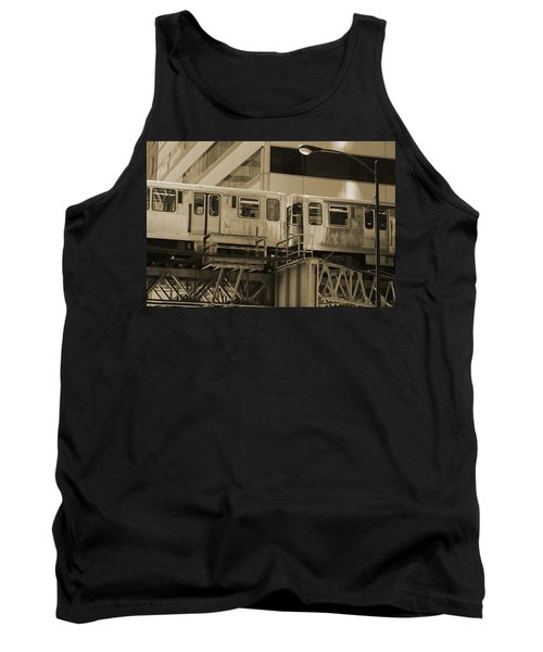 The L Downtown Chicago In Sepia Tank Top