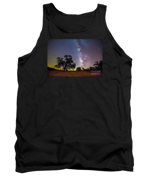 The Milky Way With One Perseid Meteor Tank Top