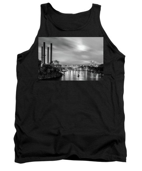 The Mississippi River Night Scene Tank Top