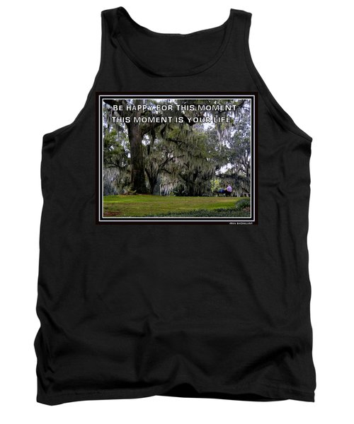 Tank Top featuring the photograph The Moment by Irma BACKELANT GALLERIES