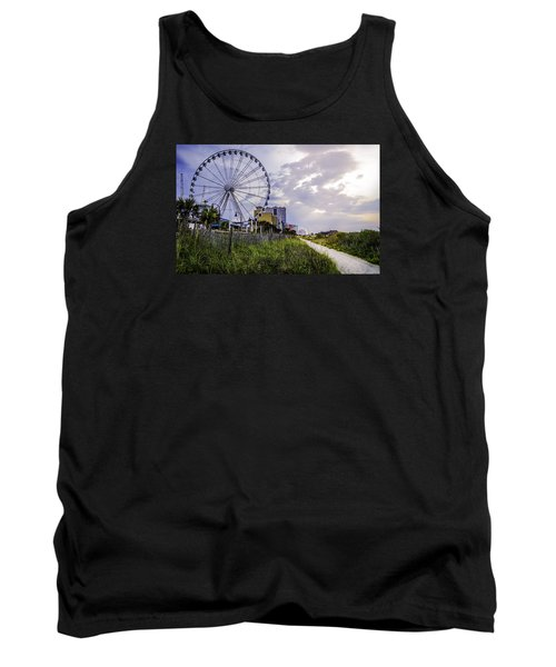 The Myrtle Beach, South Carolina Skywheel At Sunrise. Tank Top