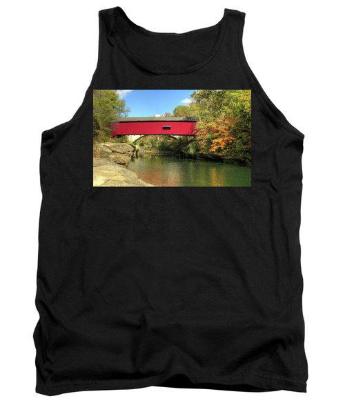 The Narrows Covered Bridge - Sideview Tank Top by Harold Rau