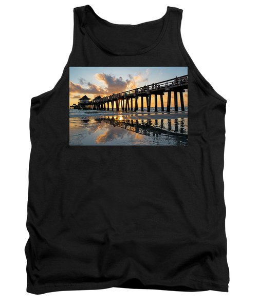 Naples Pier At Sunset Naples Florida Ripples Tank Top