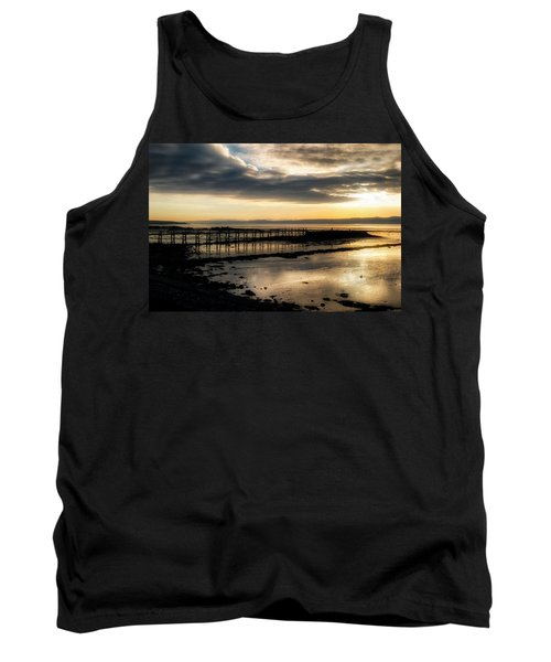 The Old Pier In Culross, Scotland Tank Top