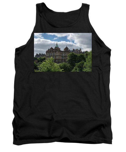 Tank Top featuring the photograph The Old Town In Edinburgh by Jeremy Lavender Photography