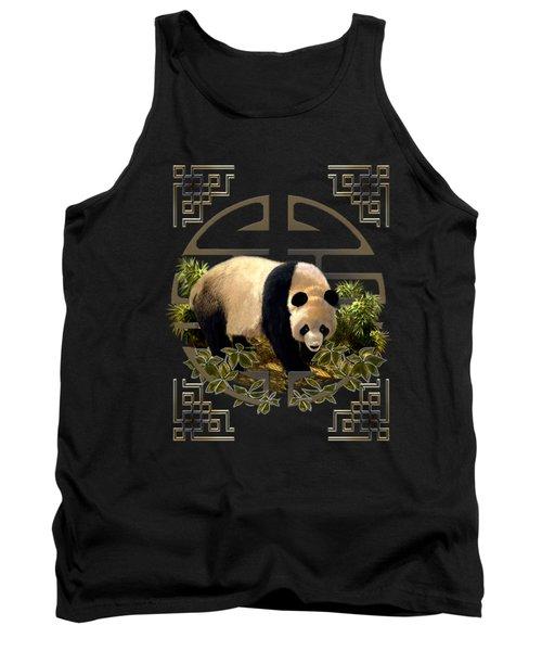 The Panda Bear And The Great Wall Of China Tank Top