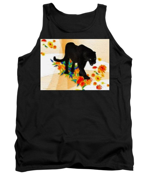 The Panther In The Flowerbed Tank Top