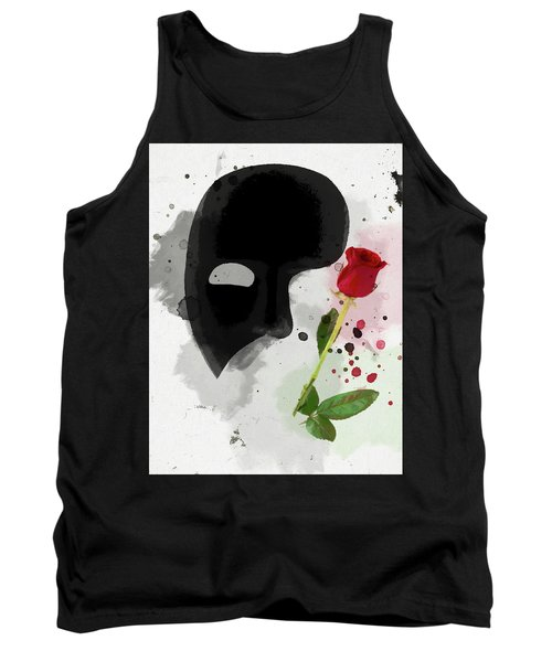 Tank Top featuring the mixed media The Phantom Of The Opera by Dan Sproul