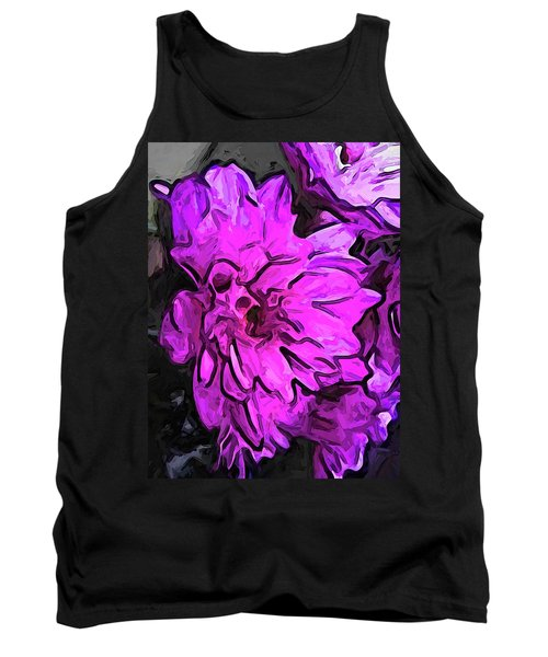 The Pink Flower With The Lavender Edges Tank Top