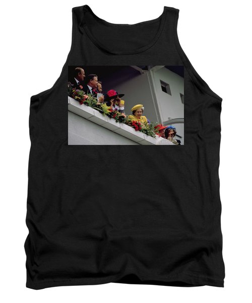 The Queen At Derby Day 1988 Tank Top