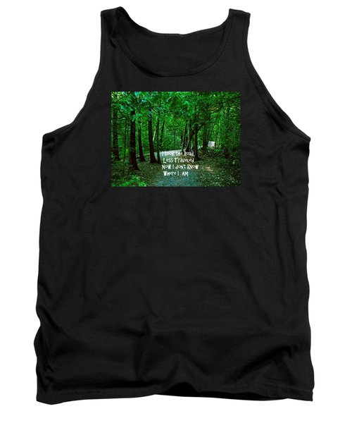 Tank Top featuring the photograph The Road Less Traveled by Gary Wonning