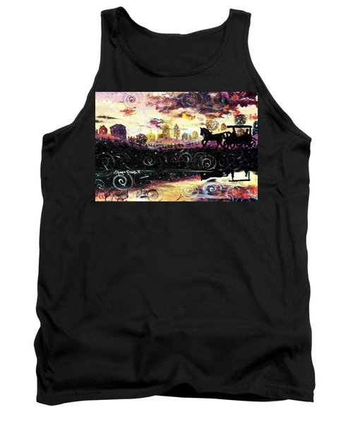 Tank Top featuring the painting The Road To Home by Shana Rowe Jackson