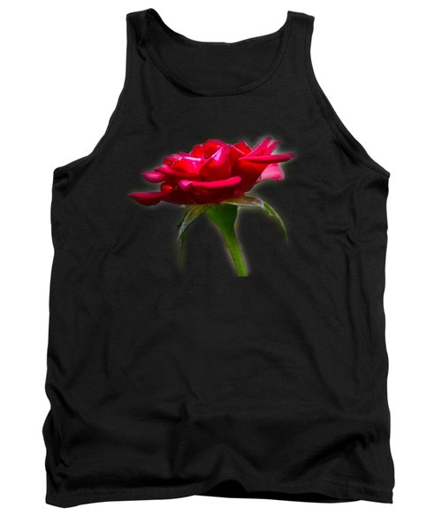The Rose  Tee-shirt Tank Top by Donna Brown