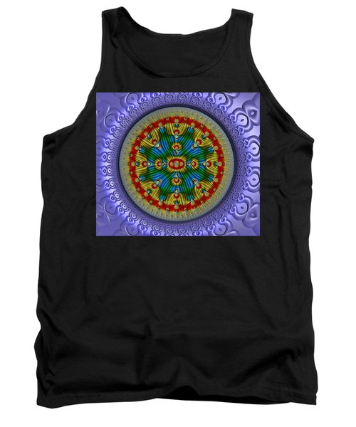Tank Top featuring the digital art The Singularity by Manny Lorenzo