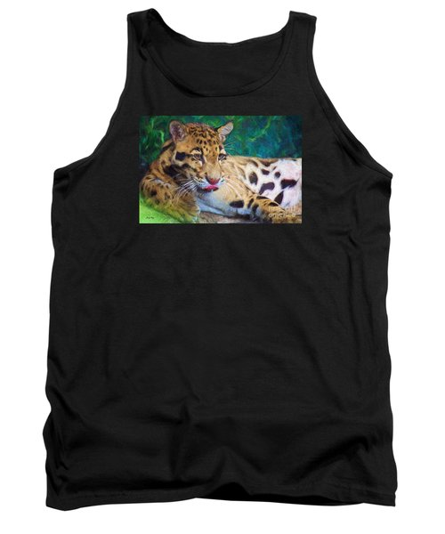 Tank Top featuring the painting The Clouded Leopard by Judy Kay