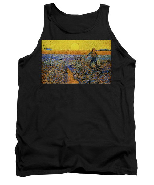 Tank Top featuring the painting The Sower by Van Gogh