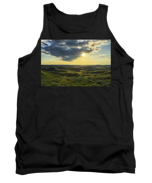 The Sun Shines Through A Cloud Tank Top by Robert Postma