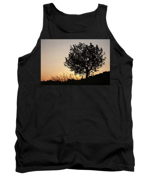 Tank Top featuring the photograph Sunset On The Hill by Yoel Koskas