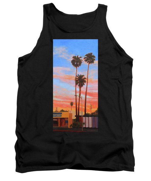 Tank Top featuring the painting The Three Palms by Andrew Danielsen
