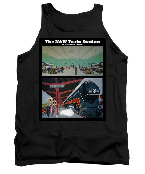 The Train Station At Portsmouth Ohio Tank Top by Frank Hunter