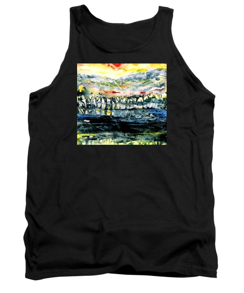 Tank Top featuring the painting The Twisted Reach Of Crazy Sorrow by Trudi Doyle