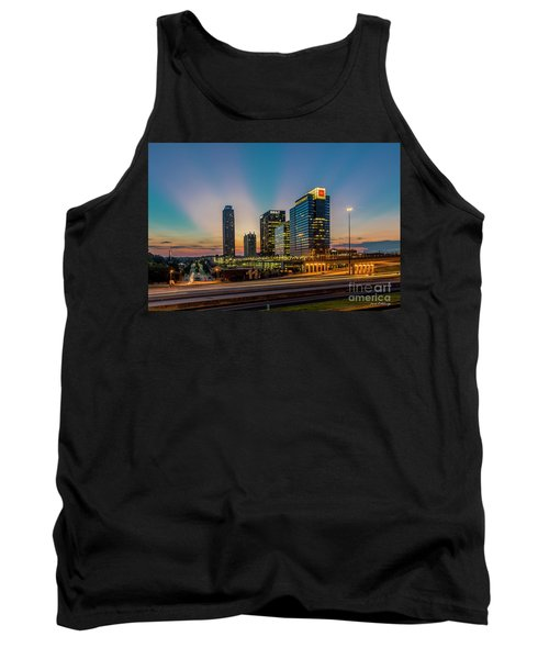 The Unexpected Sunset Midtown Atlanta Cityscape Skyline Art Tank Top