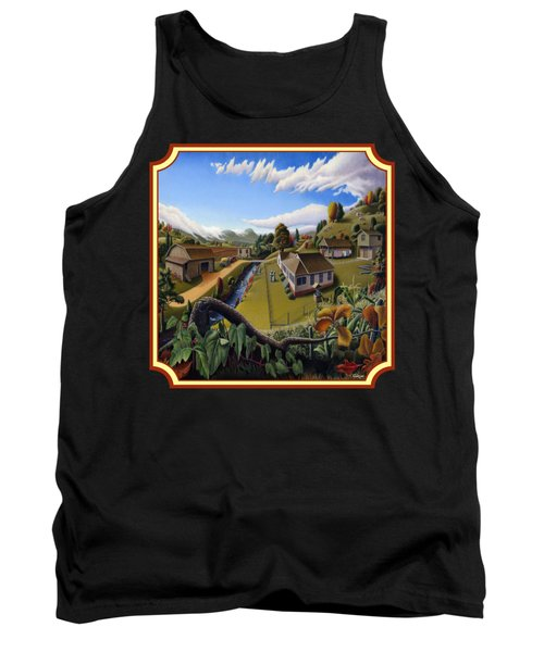 The Veon's Farm Life Country Landscape - Square Format Tank Top