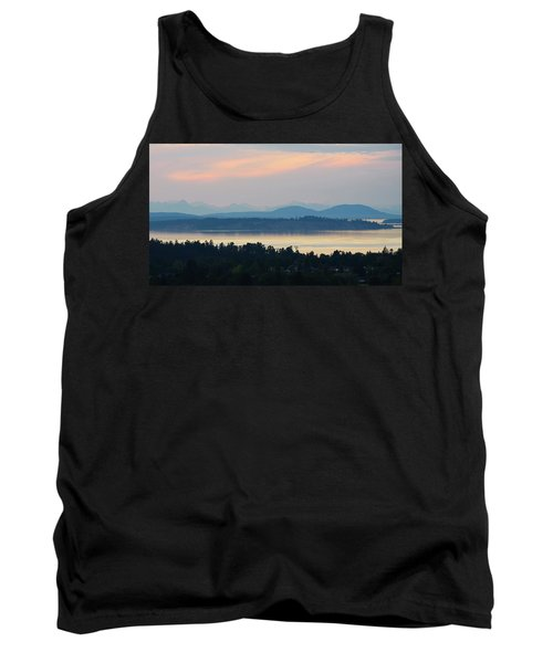 The View From Mt. Tolmie Tank Top by Keith Boone