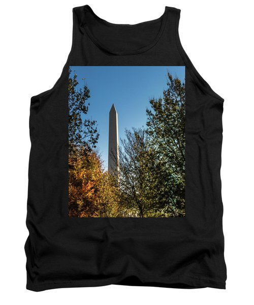 The Washington Monument In Fall Tank Top