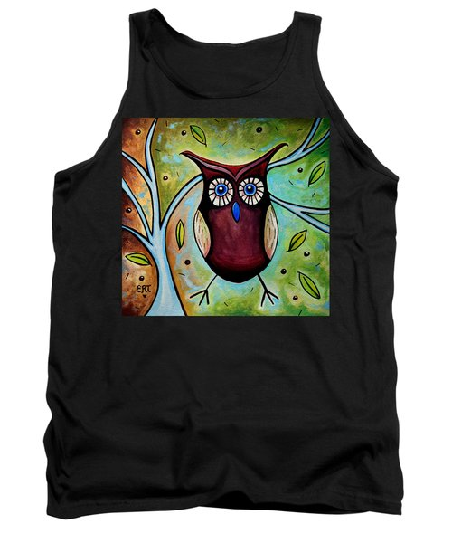 The Whimsical Owl Tank Top