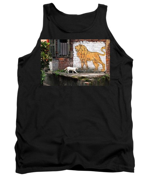 The White Cat Tank Top