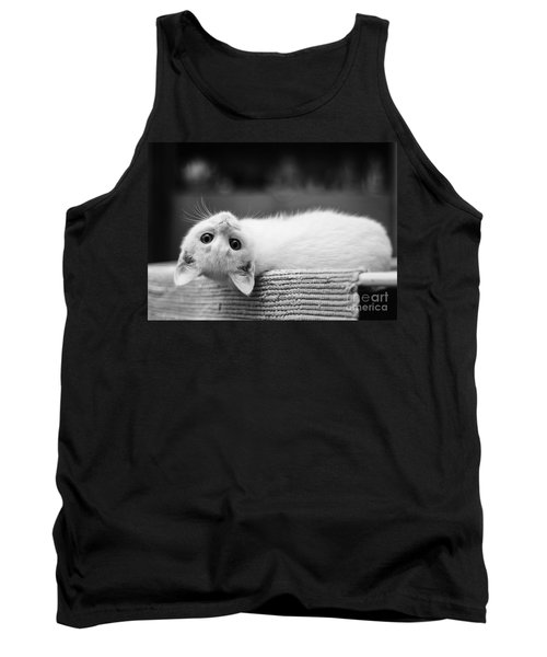 The White Kitten Tank Top