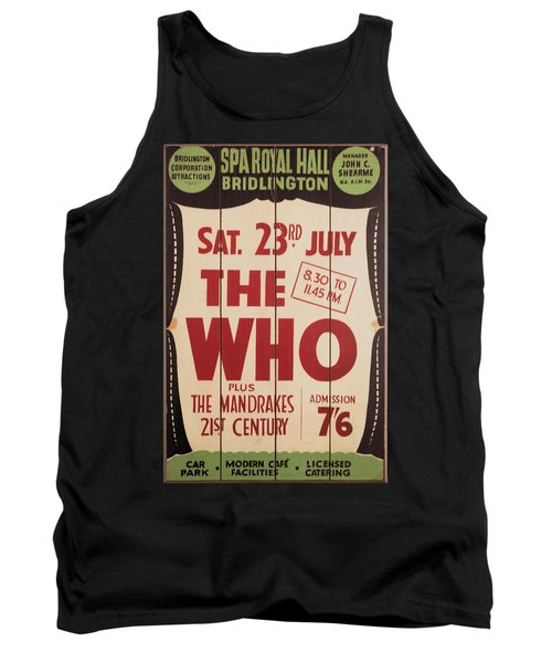 The Who 1966 Tour Poster Tank Top
