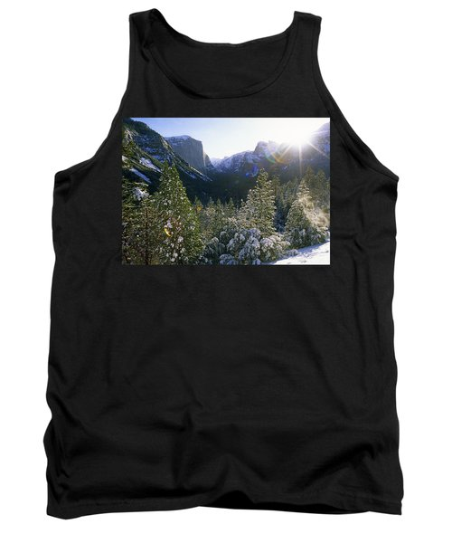 The Yosemite Valley In Winter Tank Top