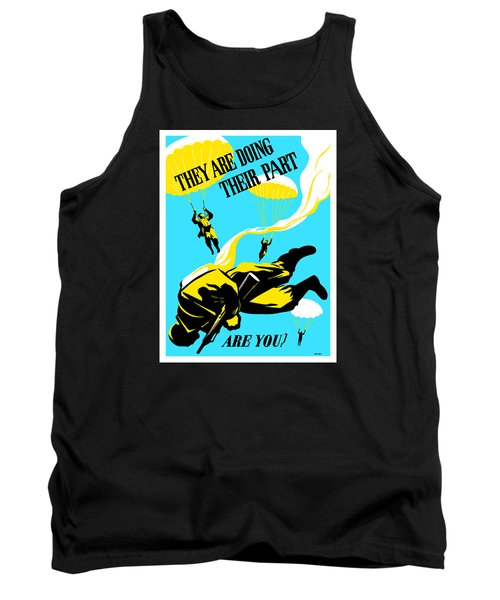 Tank Top featuring the painting They Are Doing Their Part - Are You by War Is Hell Store