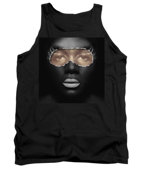 Thin Skinned Black Tank Top by ISAW Gallery