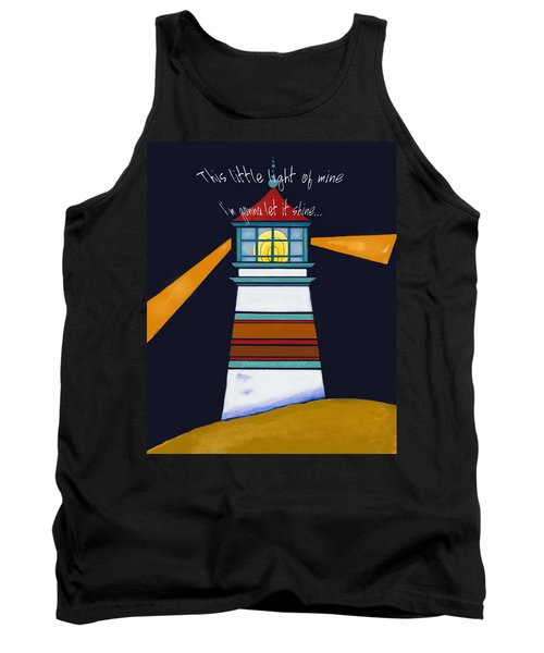 This Little Light Of Mine Tank Top by Glenna McRae